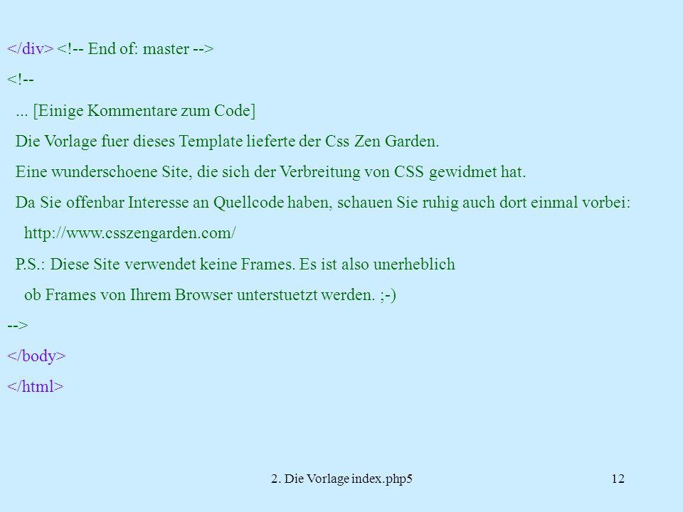 2. Die Vorlage index.php512 <!--...