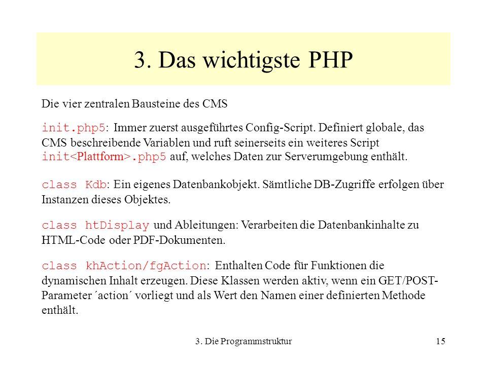 3. Die Programmstruktur15 3.