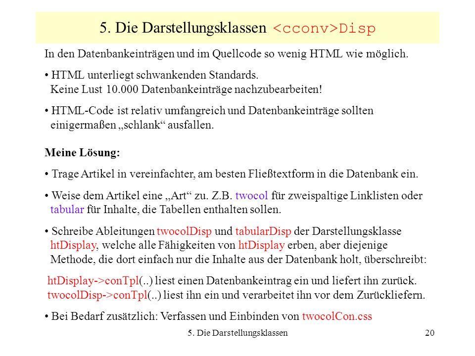 5. Die Darstellungsklassen20 5.