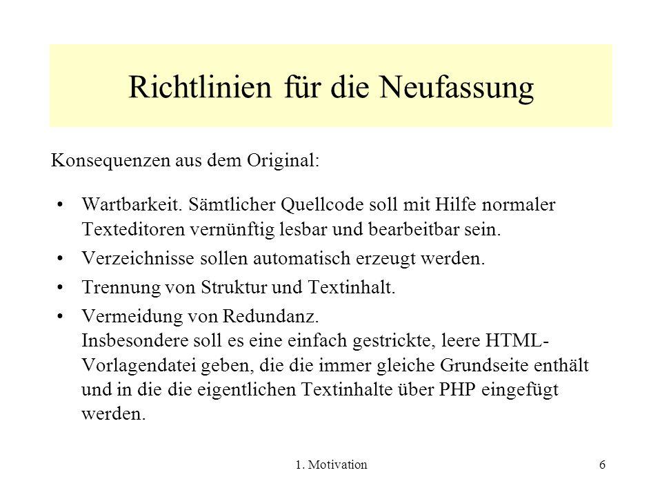 2.Die Vorlage index.php57 2.