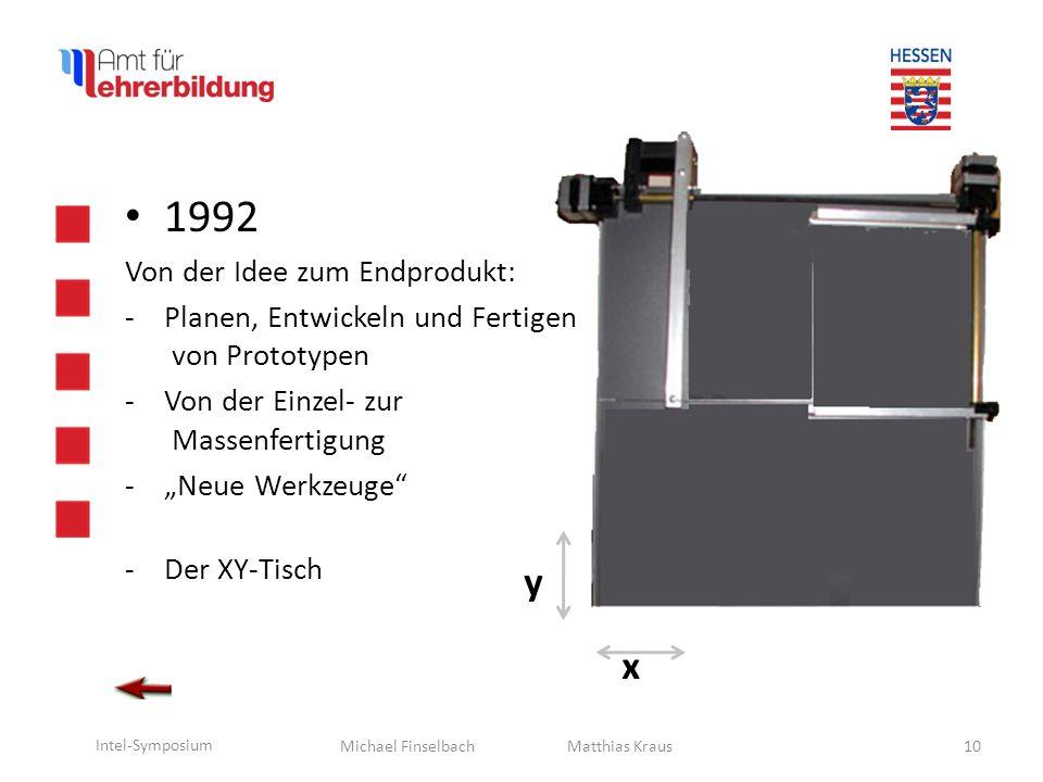 Michael Finselbach Intel-Symposium 11 1992 Von der Idee zum Endprodukt: -Der XY-Tisch Matthias Kraus