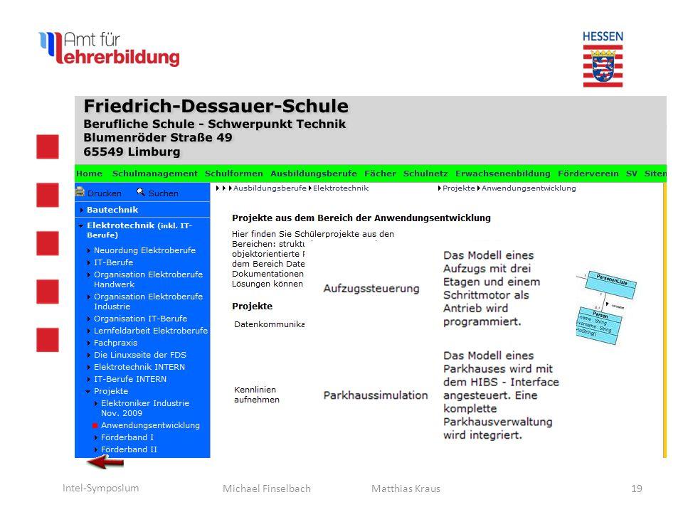 Michael Finselbach Intel-Symposium 20 Matthias Kraus Unser nächster Renner? Kosten ~ 35,-