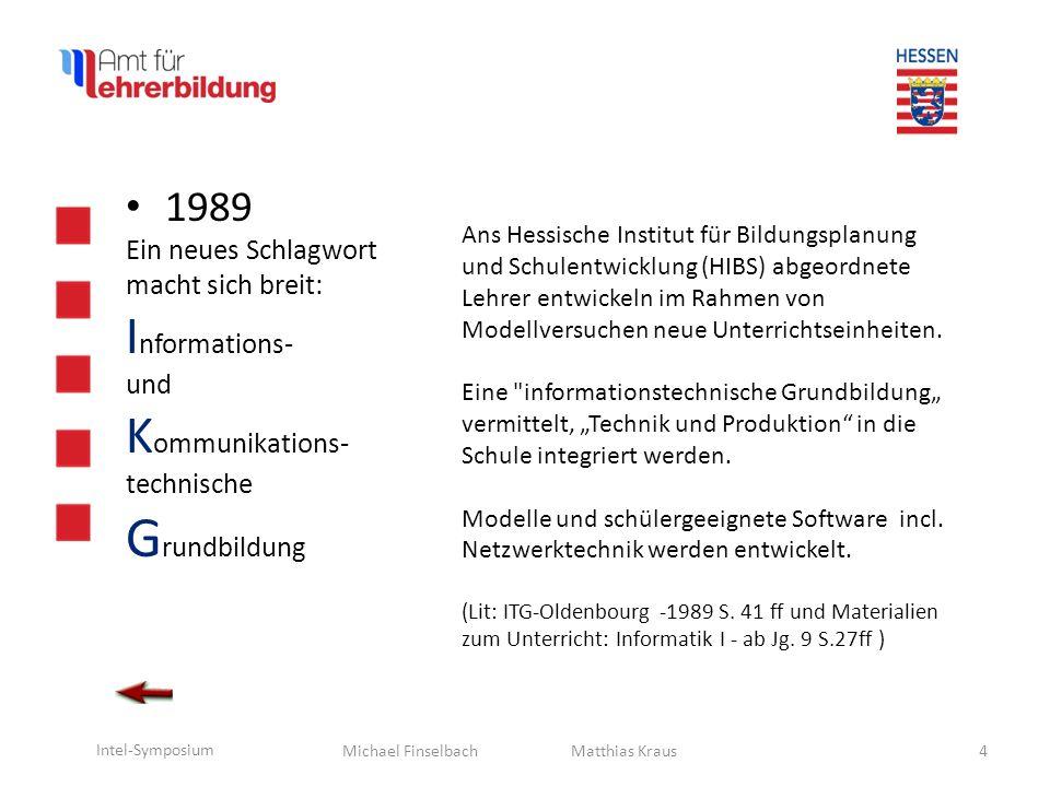 Michael Finselbach Intel-Symposium 1990 M.König V.