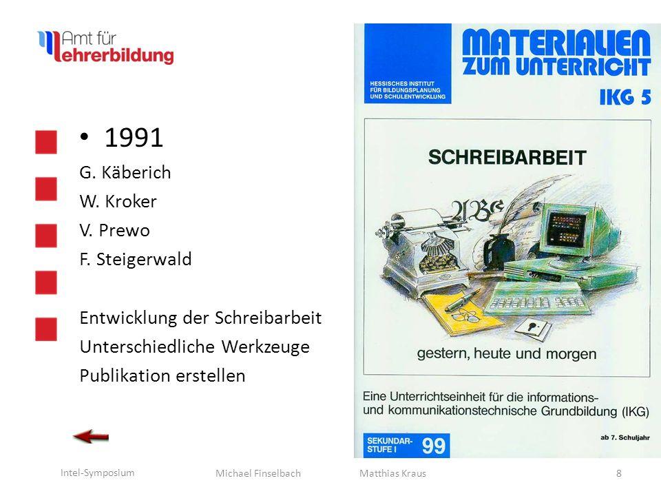 Michael Finselbach Intel-Symposium 1992 B.-U.Adam G.