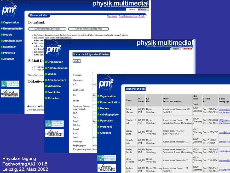 Physiker Tagung Fachvortrag AKI 101.5 Leipzig, 22. März 2002 15