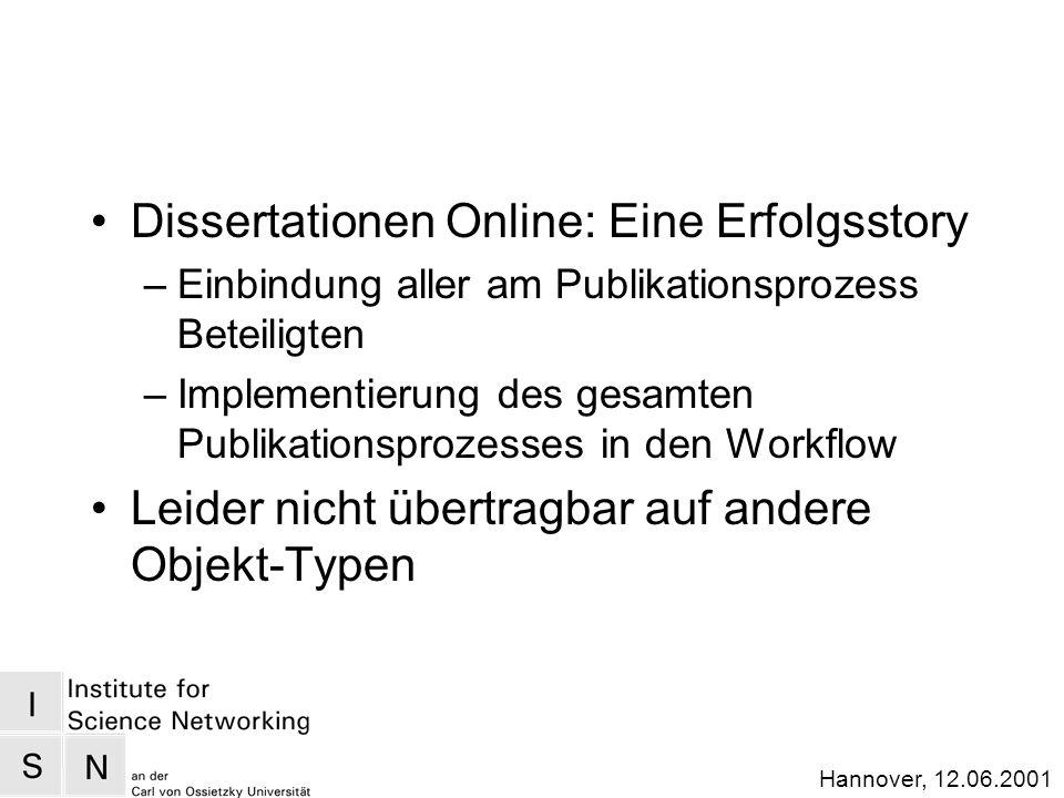 Hannover, 12.06.2001 ProduzentenKonsumenten Verlage... Bibliotheken FIZe Archive Object-Retrieval