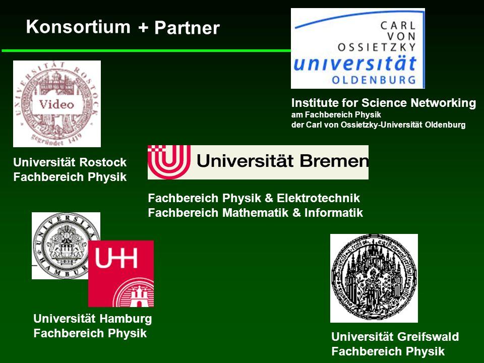 Konsortium Institute for Science Networking am Fachbereich Physik der Carl von Ossietzky-Universität Oldenburg Fachbereich Physik & Elektrotechnik Fac