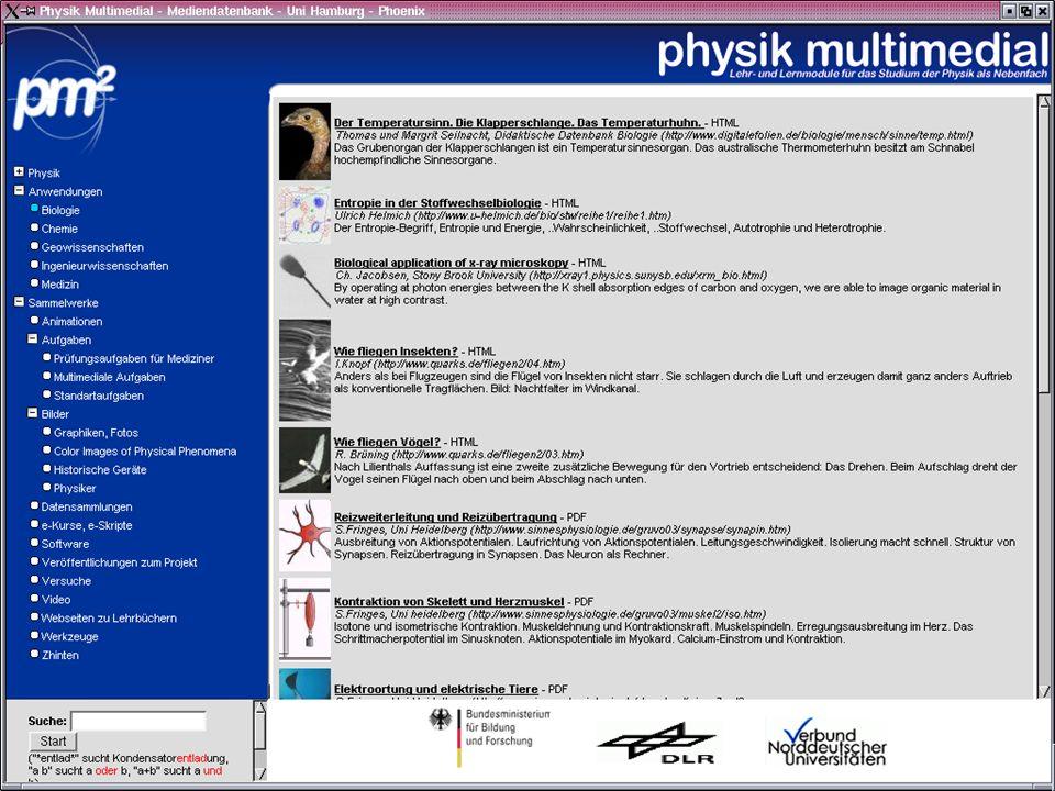 Julika Mimkesmimkes@uni-oldenburg.de ISN Oldenburg physik multmedial Inetbib Übersicht Module Allgemeines Beispiel LiLi Ausblick LiLi – Links zu Lerninhalten der Physik ist eine Datenbank mit URLs und Metadaten (300 Objekte) ist eine Harvest Suchmaschine (16 000 Objekte) ist ein OAI Data Provider (DC und der eigene Metadatensatz)