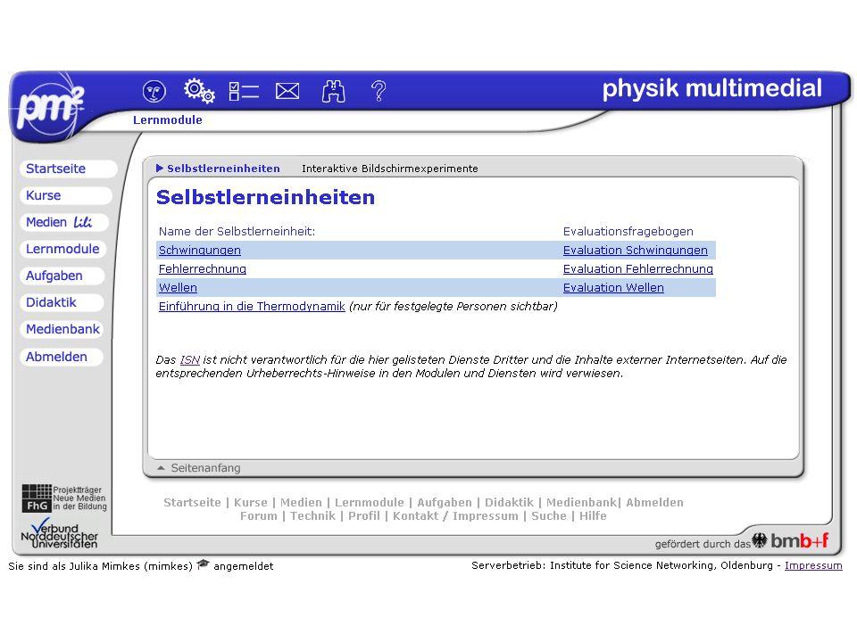 Julika Mimkesmimkes@uni-oldenburg.de ISN Oldenburg physik multmedial Ilmenau, 26.09.03 Lernplattform Didaktik Module Medien Aufgaben LiLi