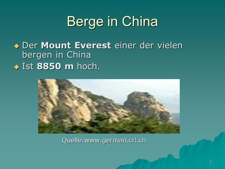 7 Berge in China Der Mount Everest einer der vielen bergen in China Der Mount Everest einer der vielen bergen in China Ist 8850 m hoch.