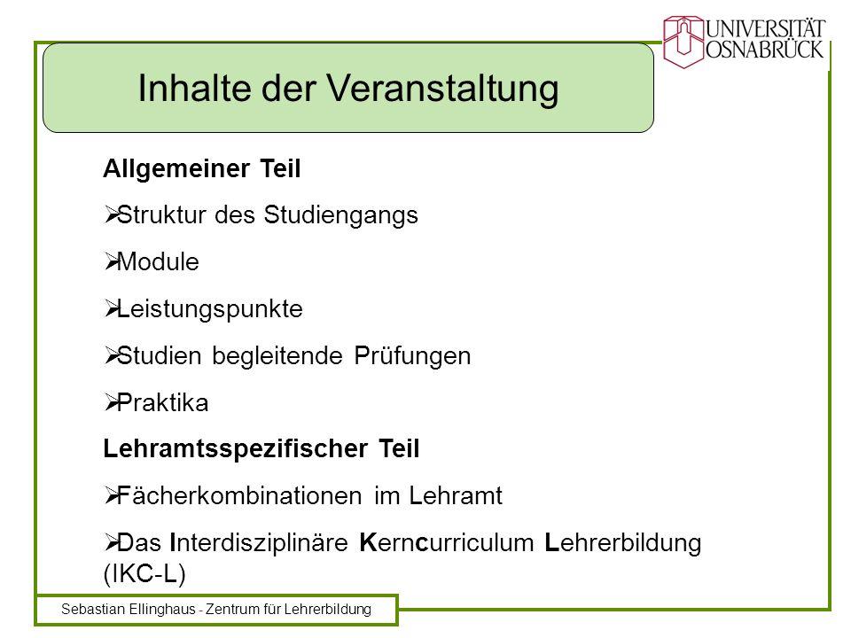 Sebastian Ellinghaus - Zentrum für Lehrerbildung Bachelor - Abschluss nach 6 Semestern (B.A.