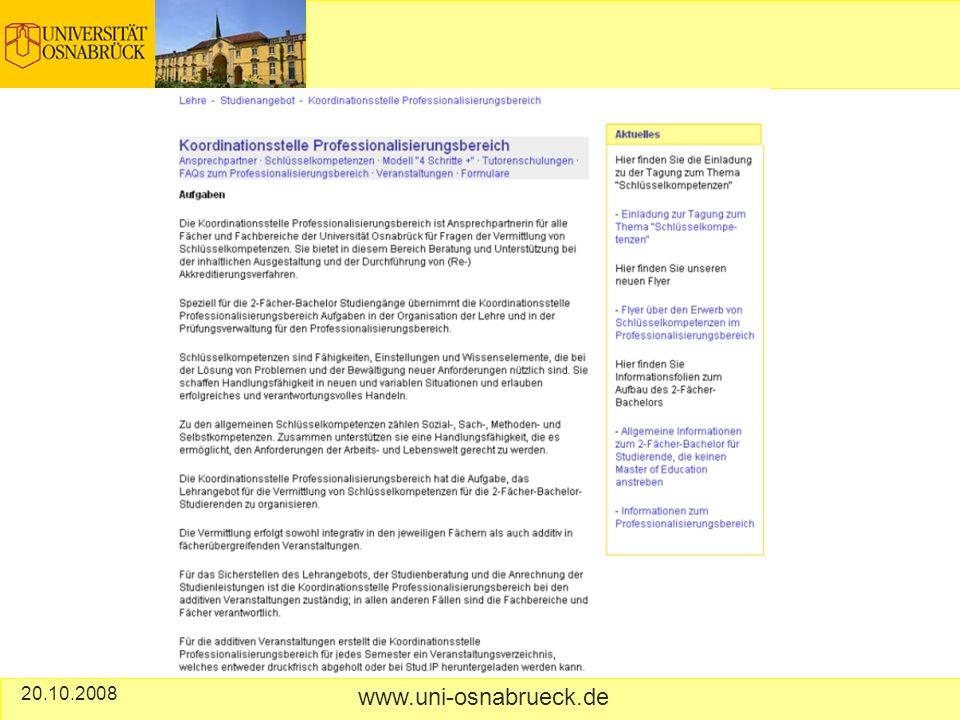 20.10.2008 www.uni-osnabrueck.de