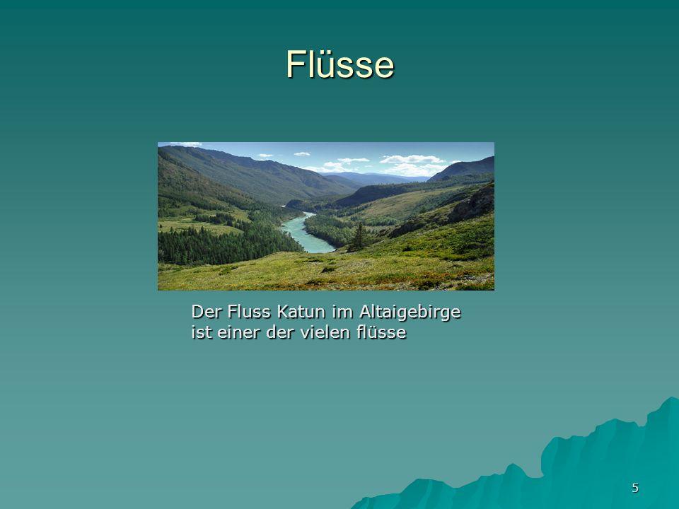 5 Flüsse Der Fluss Katun im Altaigebirge ist einer der vielen flüsse