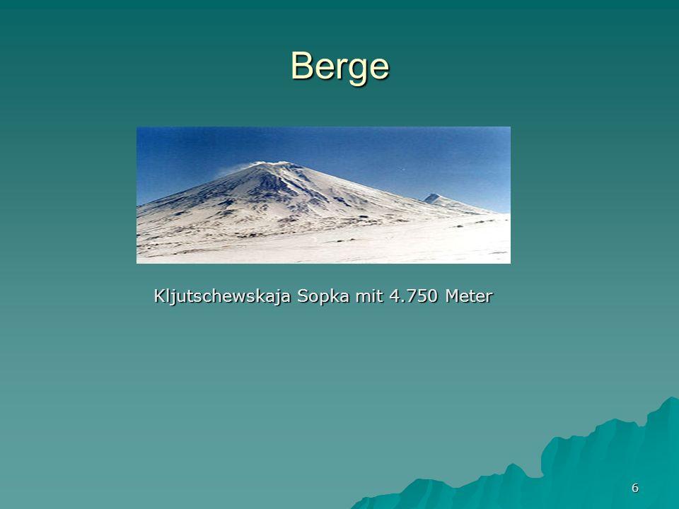 6 Berge Kljutschewskaja Sopka mit 4.750 Meter