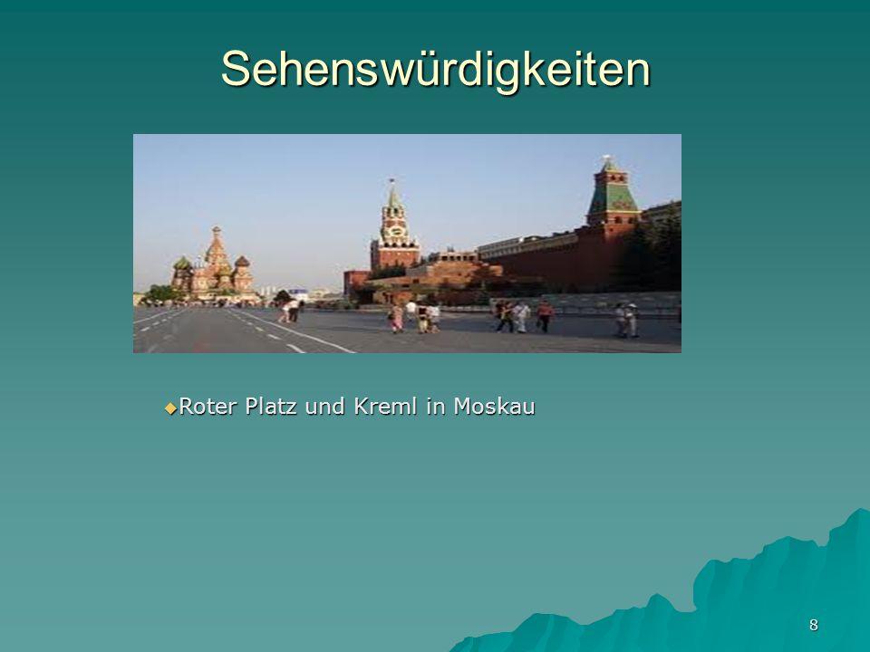 8 Sehenswürdigkeiten Roter Platz und Kreml in Moskau Roter Platz und Kreml in Moskau