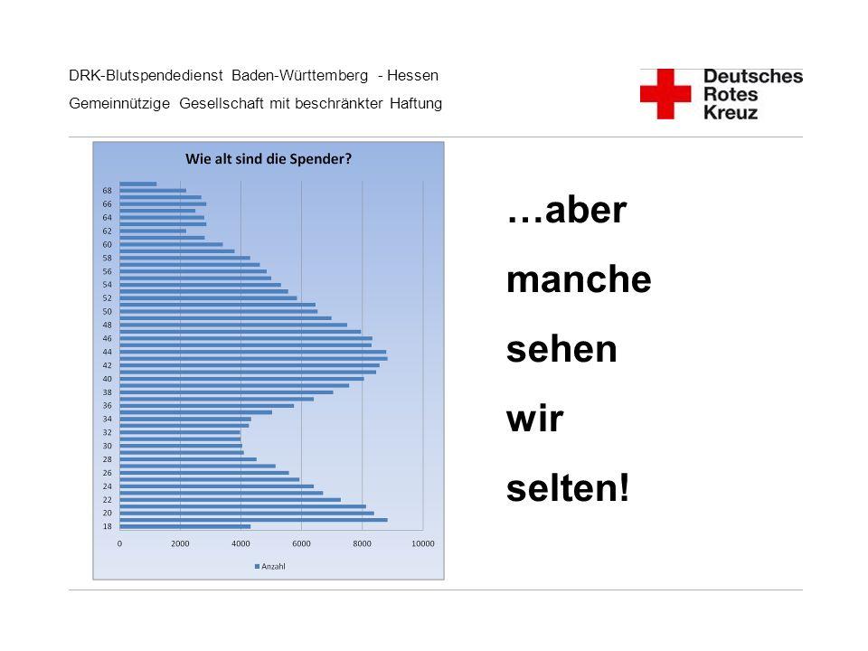 DRK-Blutspendedienst Baden-Württemberg - Hessen Gemeinnützige Gesellschaft mit beschränkter Haftung …aber manche sehen wir selten!