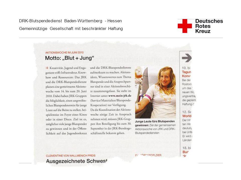 DRK-Blutspendedienst Baden-Württemberg - Hessen Gemeinnützige Gesellschaft mit beschränkter Haftung