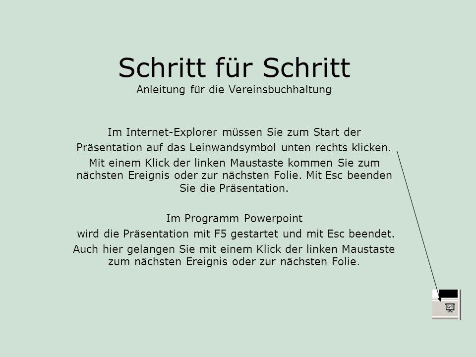 Vereinsbuchhaltung - Schritt für Schritt 44.