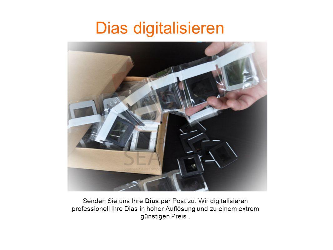 Dias digitalisieren Senden Sie uns Ihre Dias per Post zu. Wir digitalisieren professionell Ihre Dias in hoher Auflösung und zu einem extrem günstigen