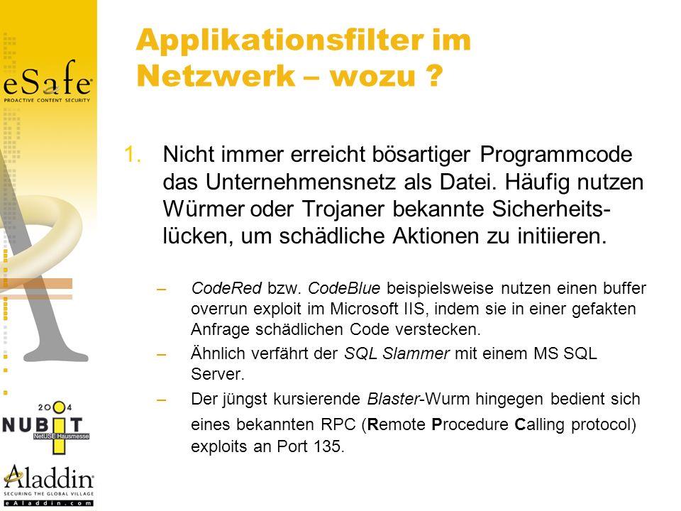 Applikationsfilter im Netzwerk – wozu .