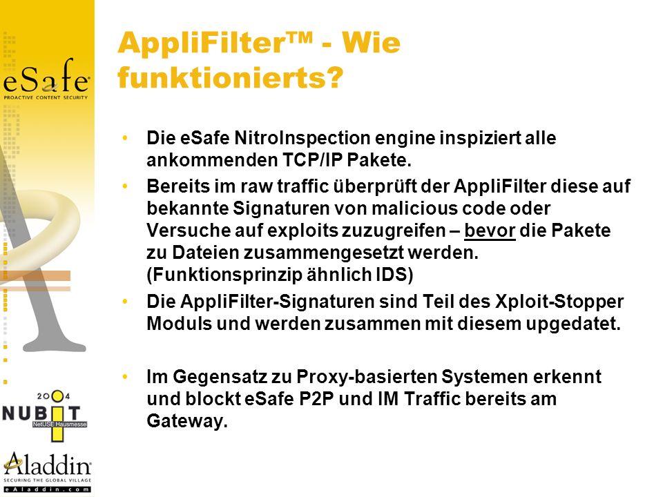 AppliFilter - Wie funktionierts.