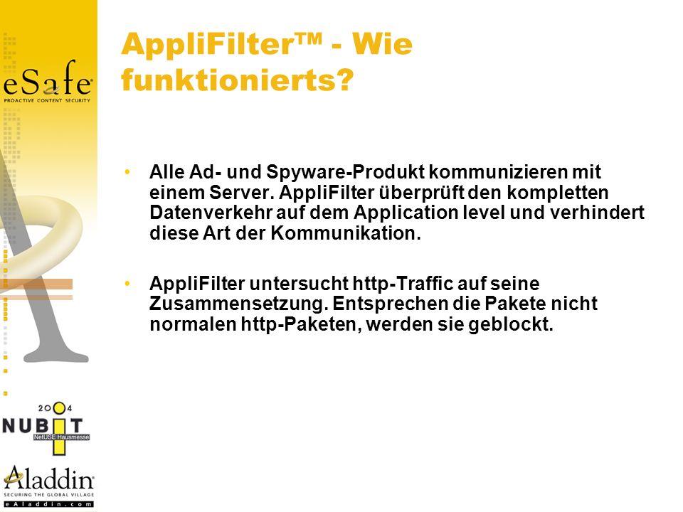 Alle Ad- und Spyware-Produkt kommunizieren mit einem Server.