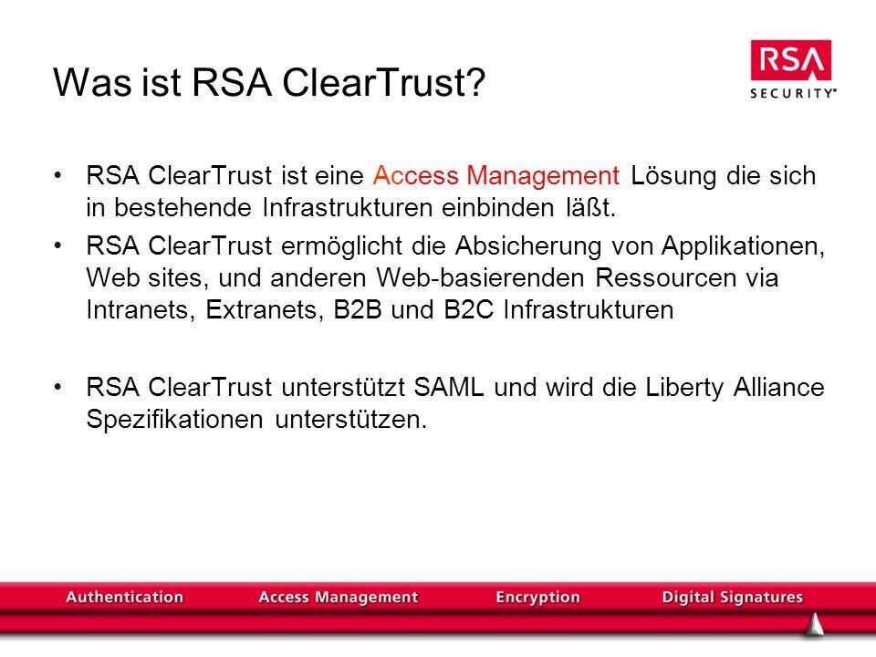 Was ist RSA ClearTrust.