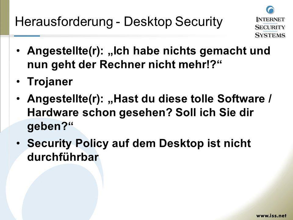 Herausforderung - Desktop Security Angestellte(r): Ich habe nichts gemacht und nun geht der Rechner nicht mehr!.