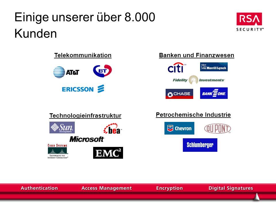 TelekommunikationBanken und Finanzwesen Technologieinfrastruktur Petrochemische Industrie Einige unserer über 8.000 Kunden