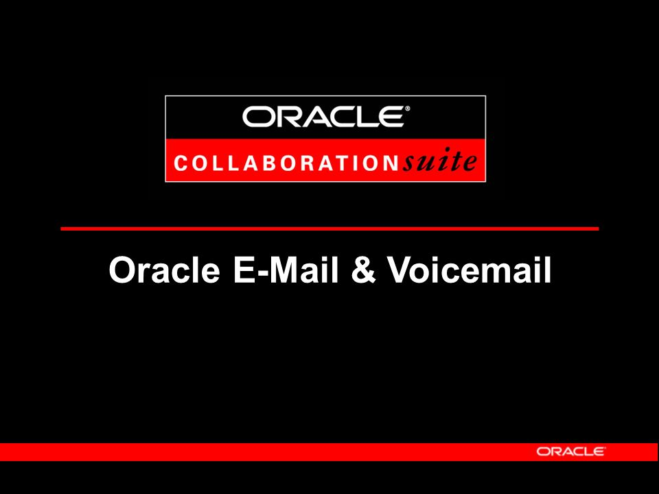 Oracle Collaboration Suite: Aufbau