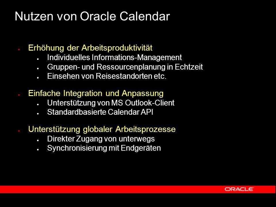 Oracle Calendar