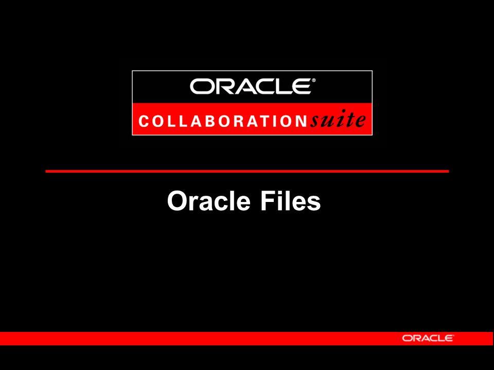 Nutzen von Oracle Calendar Erhöhung der Arbeitsproduktivität Individuelles Informations-Management Gruppen- und Ressourcenplanung in Echtzeit Einsehen von Reisestandorten etc.