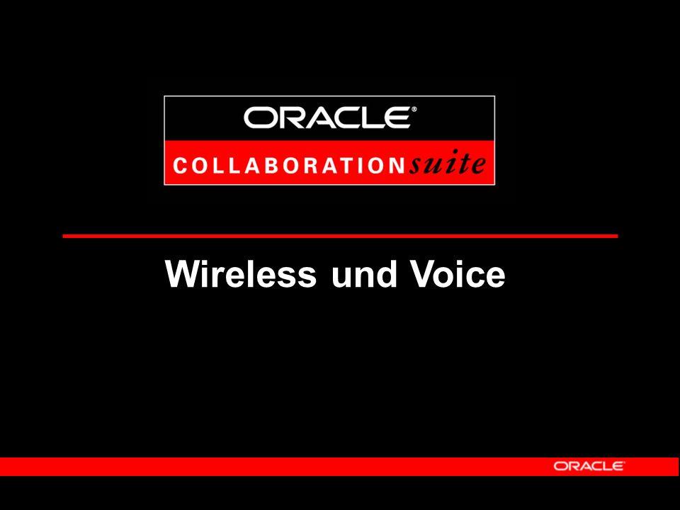 Nutzen von Oracle Web-Conferencing Gruppenkommunikation und Zusammenarbeit über Unternehmensgrenzen hinweg Integration mit Dokumentenablage- und Kalendersystem Echtzeit- und On-Demand-Angebot an Mitarbeiter und Partnerunternehmen Kostenreduzierung für Meetings, Trainingsmaßnahmen und Supportaktivitäten