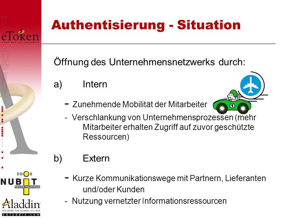 Öffnung des Unternehmensnetzwerks durch: a)Intern - Zunehmende Mobilität der Mitarbeiter - Verschlankung von Unternehmensprozessen (mehr Mitarbeiter e