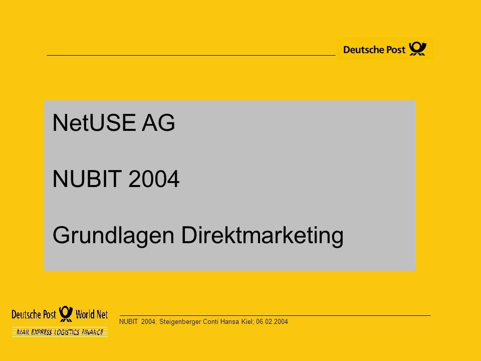 NUBIT 2004; Steigenberger Conti Hansa Kiel; 06.02.2004 NetUSE AG NUBIT 2004 Grundlagen Direktmarketing
