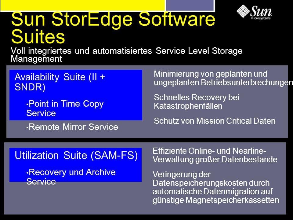 Effiziente Online- und Nearline- Verwaltung großer Datenbestände Veringerung der Datenspeicherungskosten durch automatische Datenmigration auf günstig