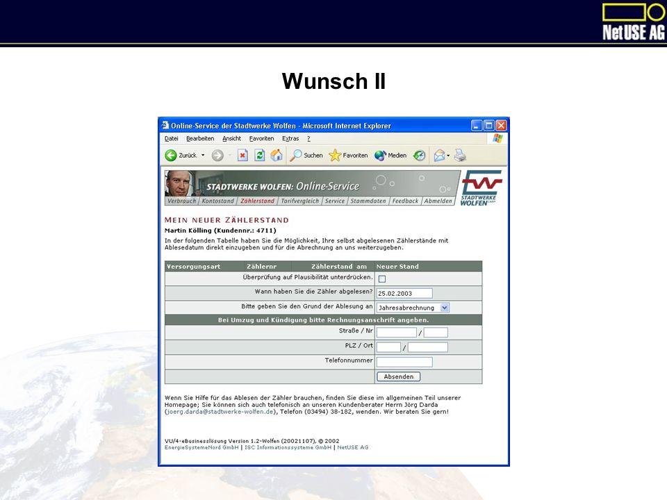 Wunsch II