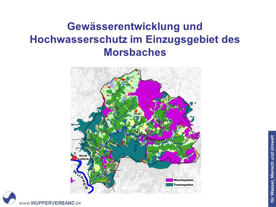 www.WUPPERVERBAND.de Gewässerentwicklung und Hochwasserschutz im Einzugsgebiet des Morsbaches