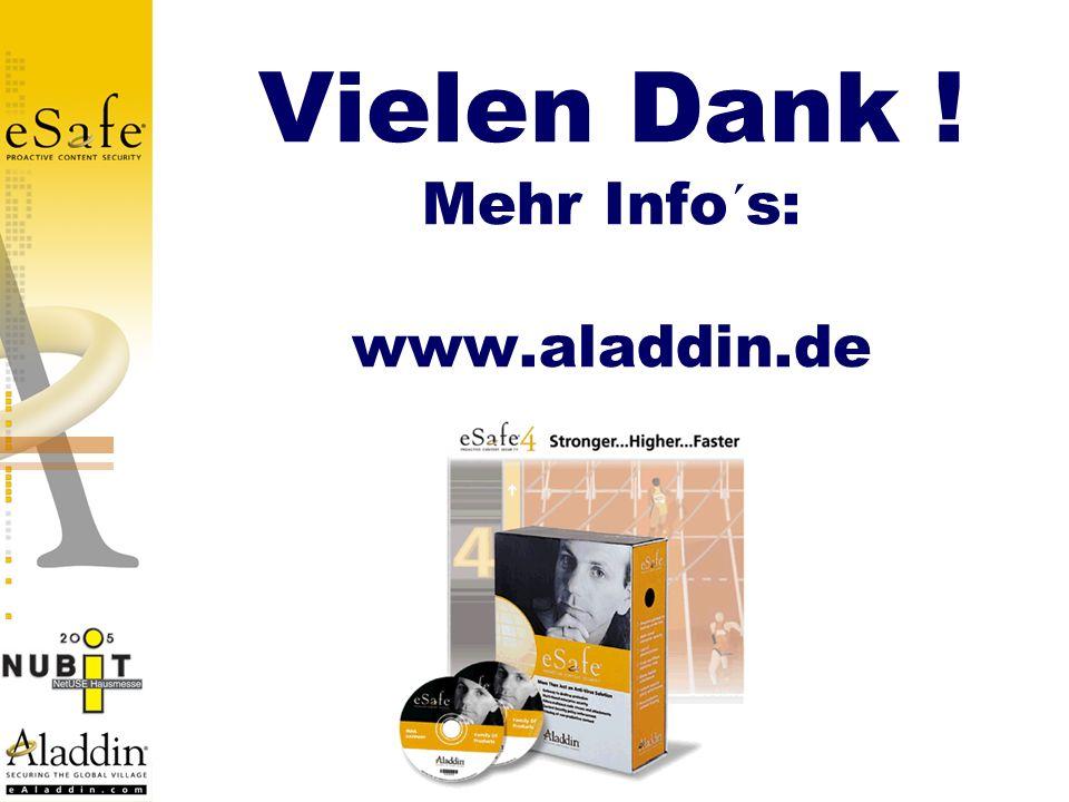 Vielen Dank ! Mehr Info´s: www.aladdin.de