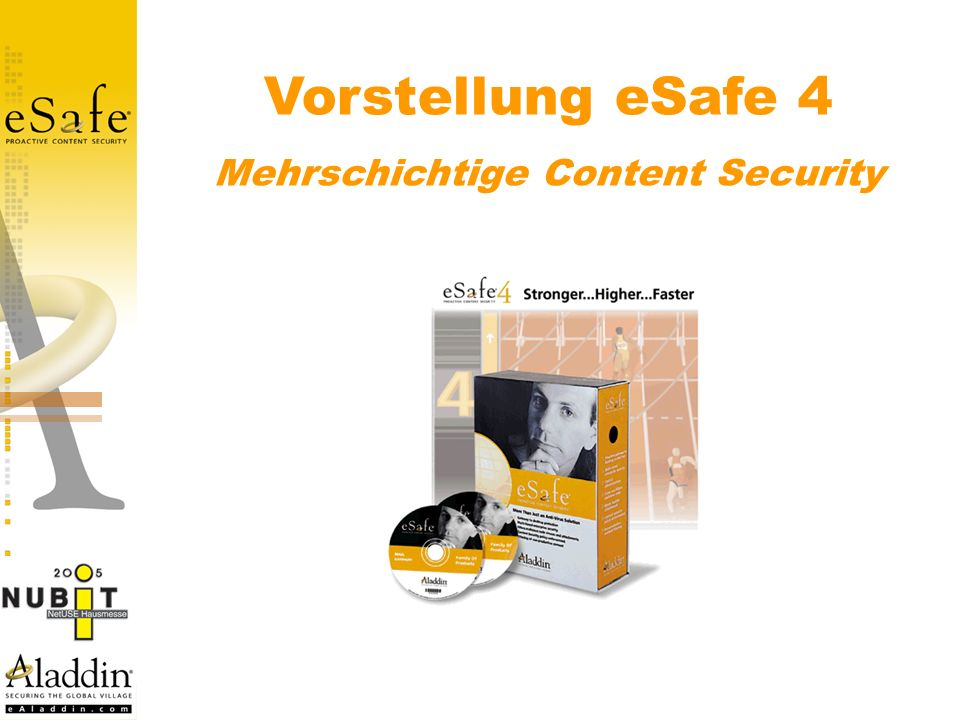Sicherheit – das muß man haben Email anti virus Anti spam HTTP Content Inspection FTP Content Inspection URL Filtering Worm protection IM, P2P, Spyware, apps.