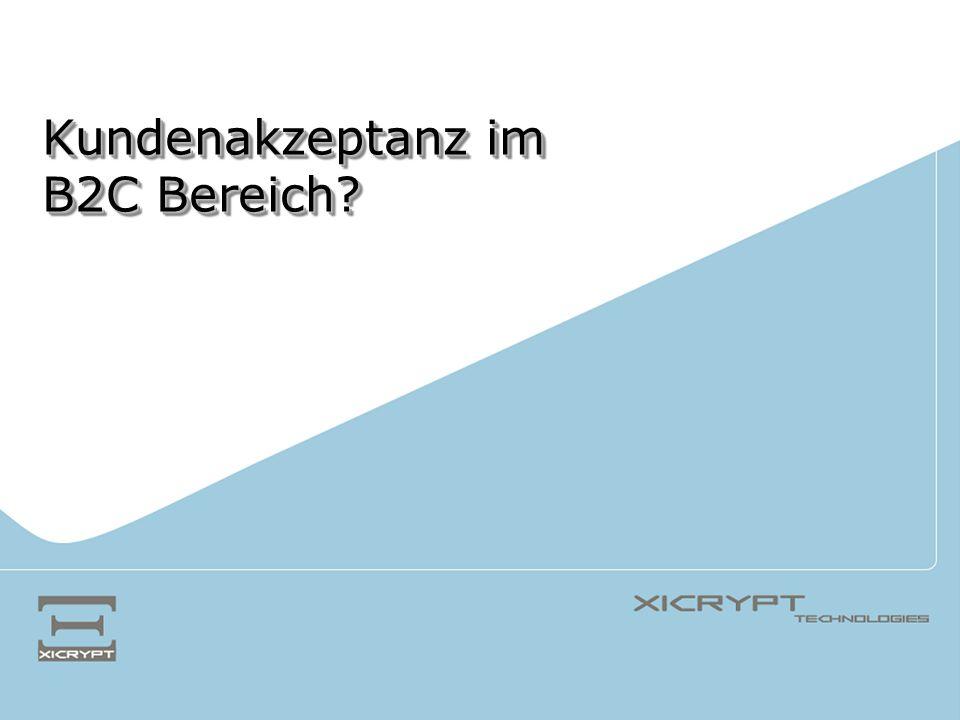 © 2005 XiCrypt Technologies eBilling im WIFI Steiermark -> Marktforschungsprojekt eBilling Steirische Internet-Benutzer Face-to-Face Befragung (n = 208) ja nein Rechnung per eMail?