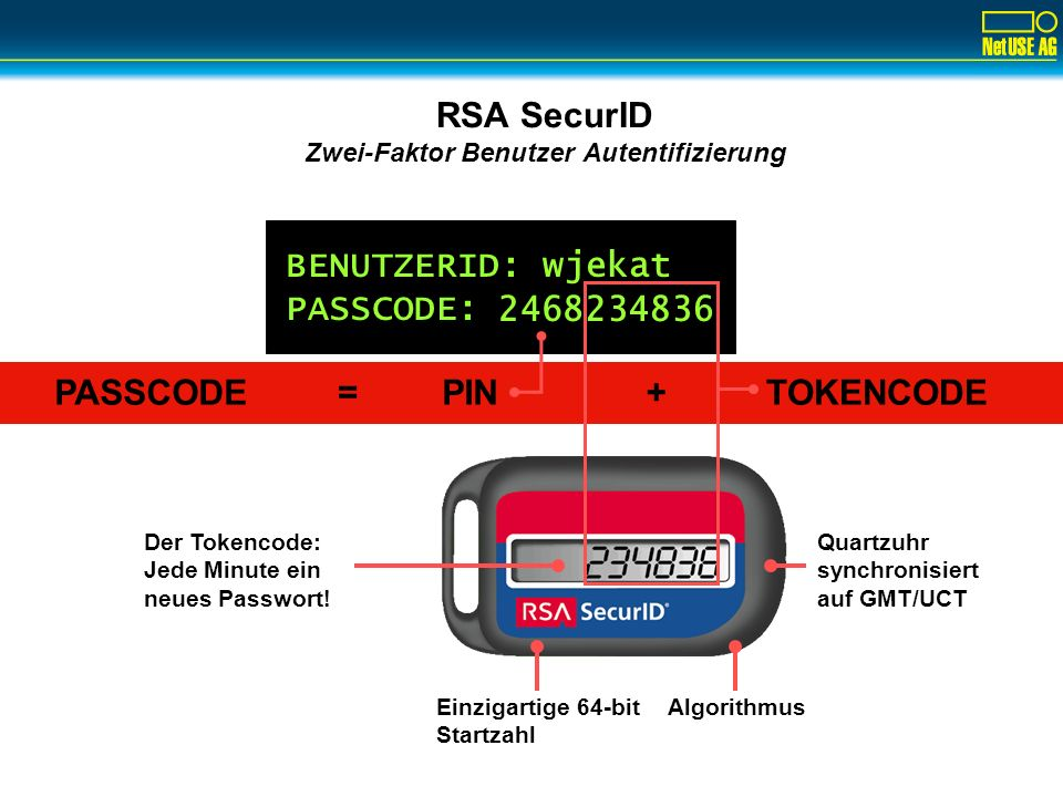 Lösungsansatz Tokens: RSA SecurID
