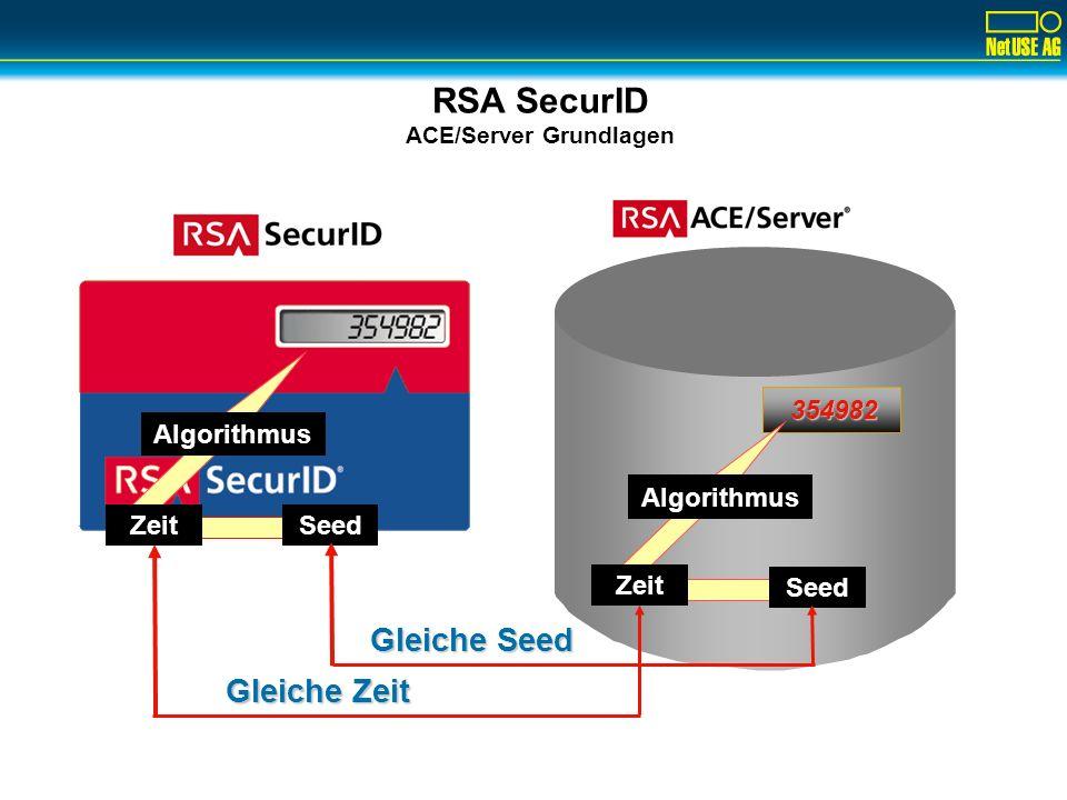 RSA SecurID Zwei-Faktor Benutzer Autentifizierung BENUTZERID: wjekat PASSCODE: 2468234836 PINTOKENCODE Der Tokencode: Jede Minute ein neues Passwort!
