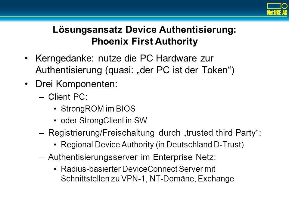 RSA SecurID Zwei-Faktor User-Authentifizierung De-facto Standard für Authentifizierung im Remote Access Umfeld –8 Millionen aktive Nutzer –260+ RSA SecurID-Ready Produkte von ca.