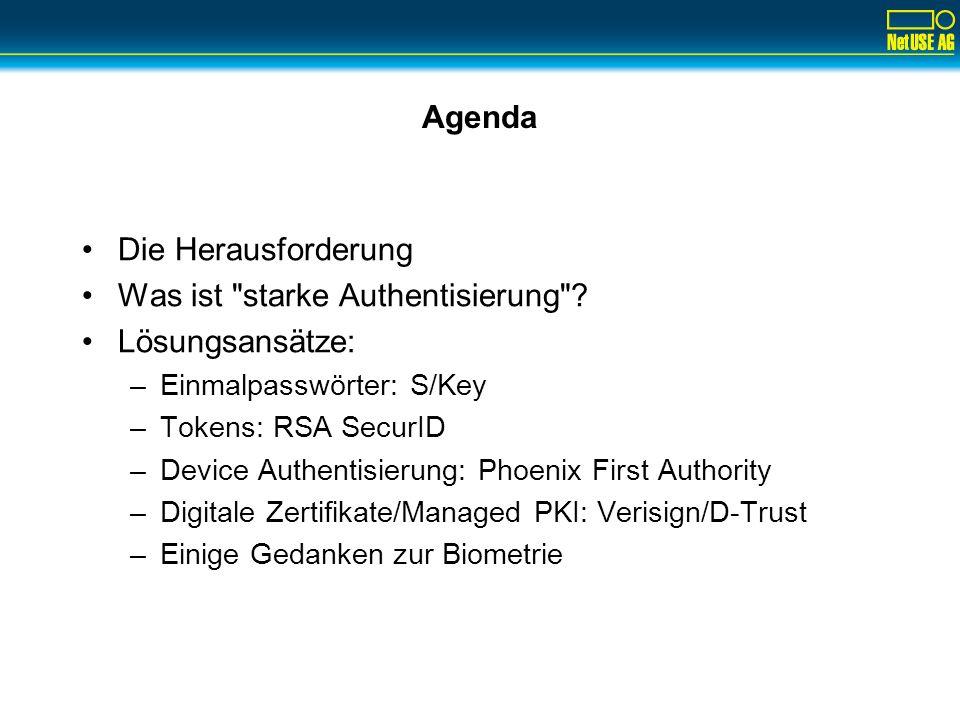 Lösungsansatz Tokens: RSA SecurID