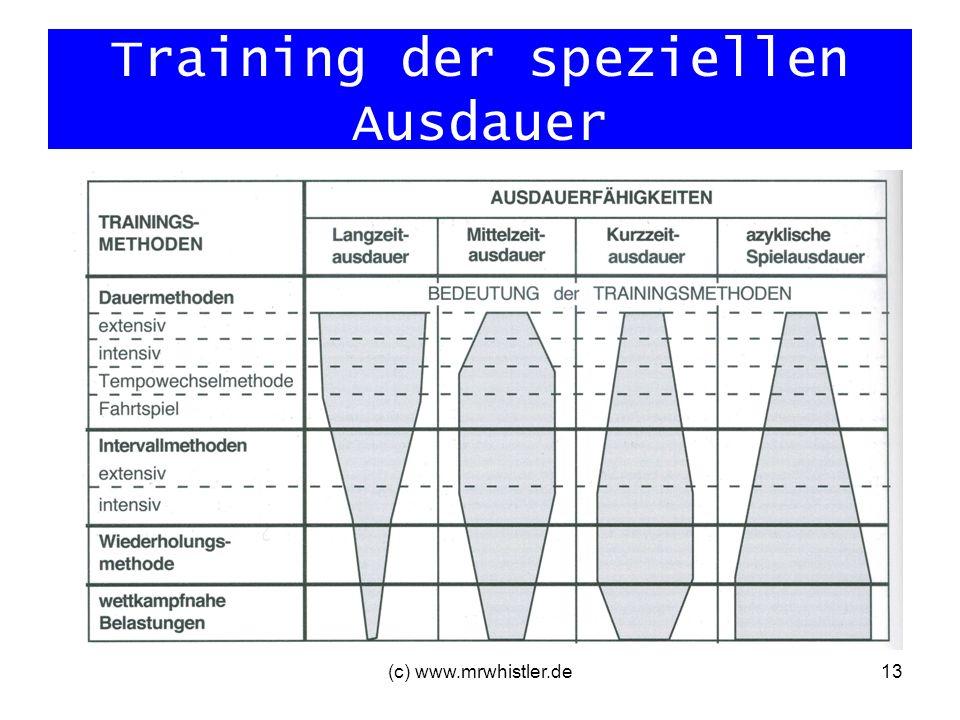 (c) www.mrwhistler.de13 Training der speziellen Ausdauer