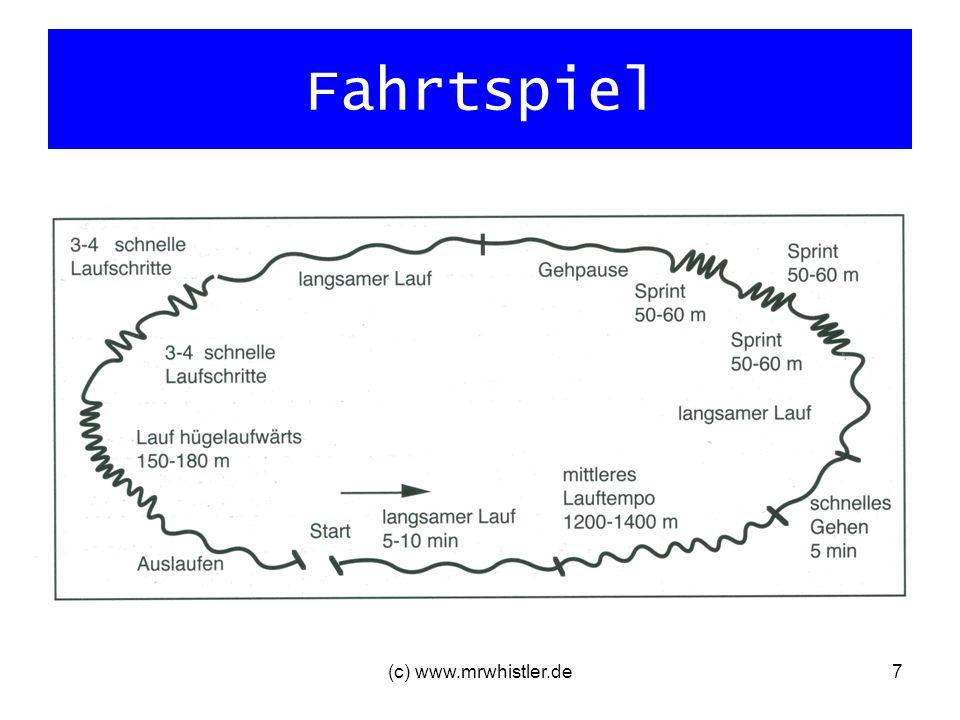 (c) www.mrwhistler.de7 Fahrtspiel