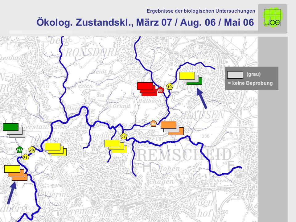 21 20 09 10 10A 07 Ökolog. Zustandskl., März 07 / Aug.