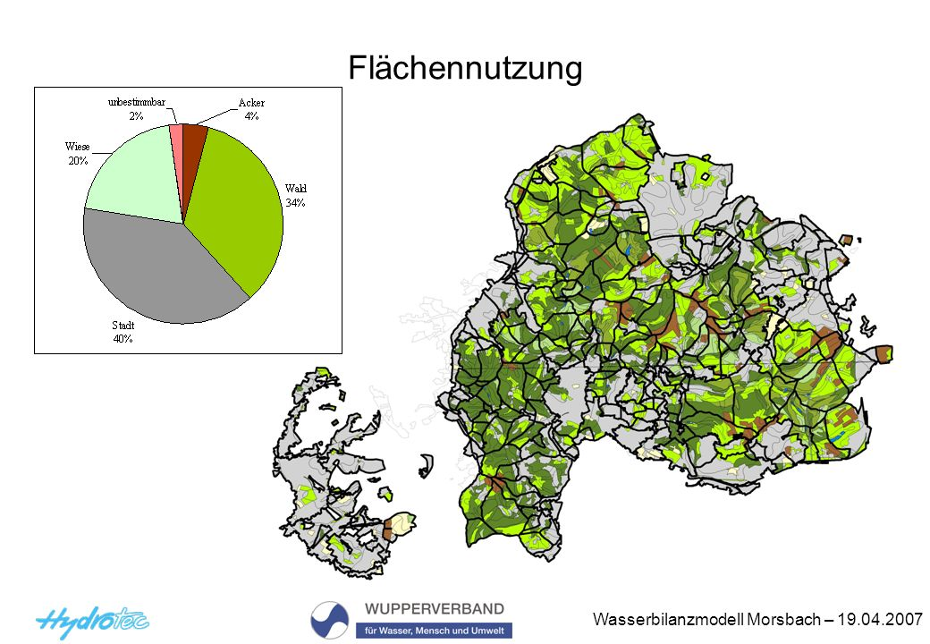 Wasserbilanzmodell Morsbach – 19.04.2007 Flächennutzung
