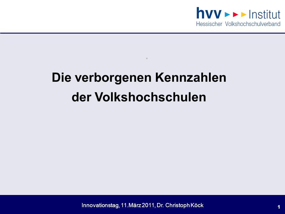 Innovationstag, 11.März 2011, Dr.Christoph Köck 12.